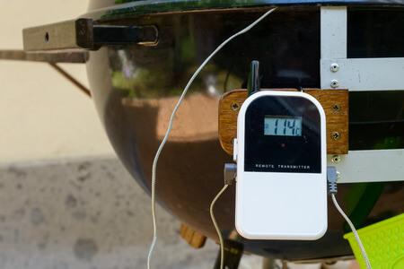 Grillthermometer weiß mit Kabel
